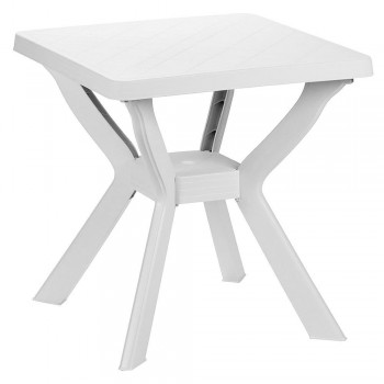 Square White Resin Table...