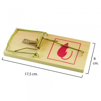 Wooden rat trap 17.5 x 8 cm.