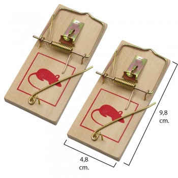 Wooden mouse trap 9.8 x 4.8...