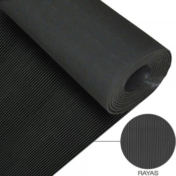 RUBBER MAT WITH STRIPES...