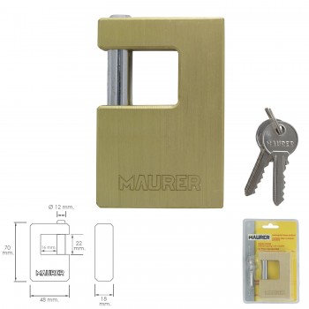 Square Blind Lock 74 mm.