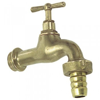 Curved Tap Polished Brass...