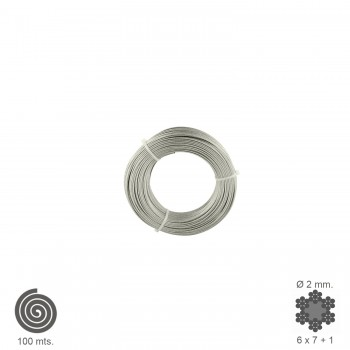 Galvanized Cable  2 mm....