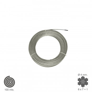Galvanised Cable   4  mm....