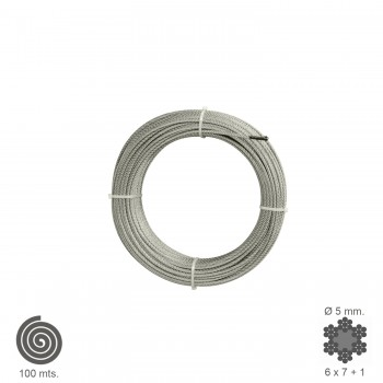 Galvanized Cable  5 mm....