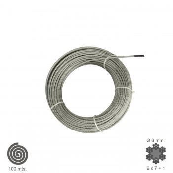 Galvanised Cable   6  mm....