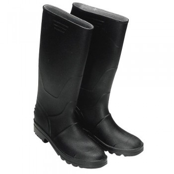 Tall Black Rubber Boots No. 45