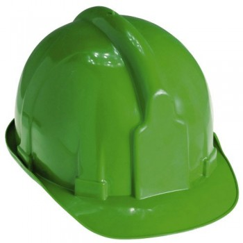 Green Hard Hats for Works