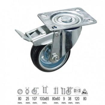 Low Black Rubber Boots No. 37