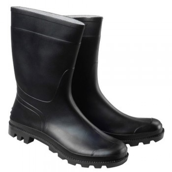 Low Black Rubber Boots No. 39