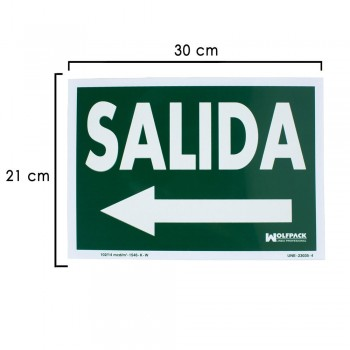 Exit to the Left Sign 21x30...