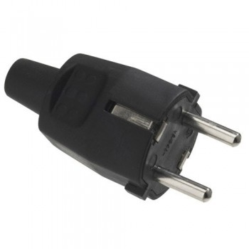 Rubber earthed pin / plug...