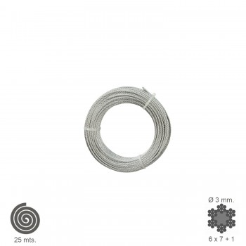 Galvanised Cable    3 mm....