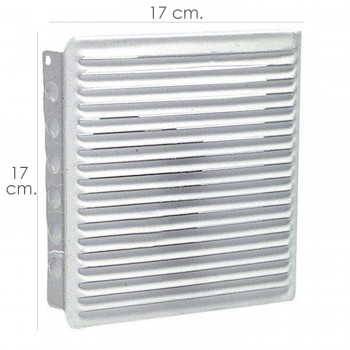 Fitted 17x17 cm ventilation...