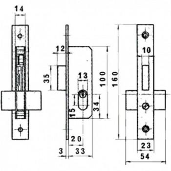 Tesa lock Security R200B/T6/6L