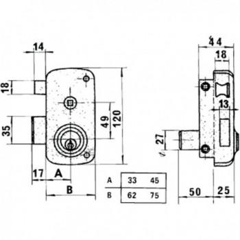 Azbe Lock    7-hn/ Right hand