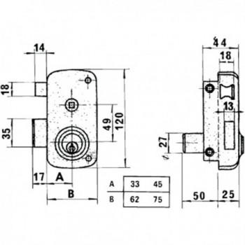Azbe Lock   10-hn/ Right hand
