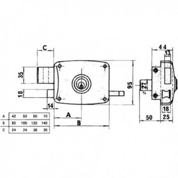 Azbe Lock   50-hl/ 60