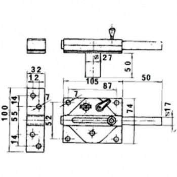 Cylinder Azbe Round M/c 52-n