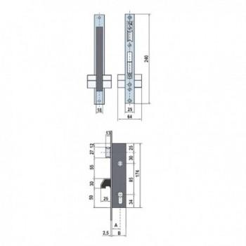 Knob Tesa 3502-LM / 60/70