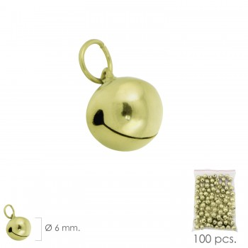 Gold Bell  6 mm.  (Bag of...
