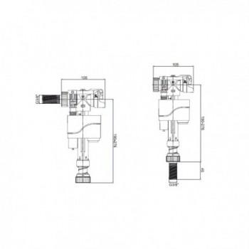 Blind bearing Ø 22-28mm...